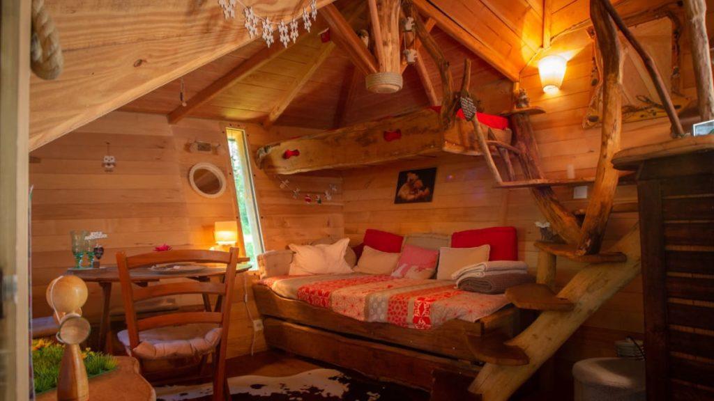 vue intérieure cabane pays basque