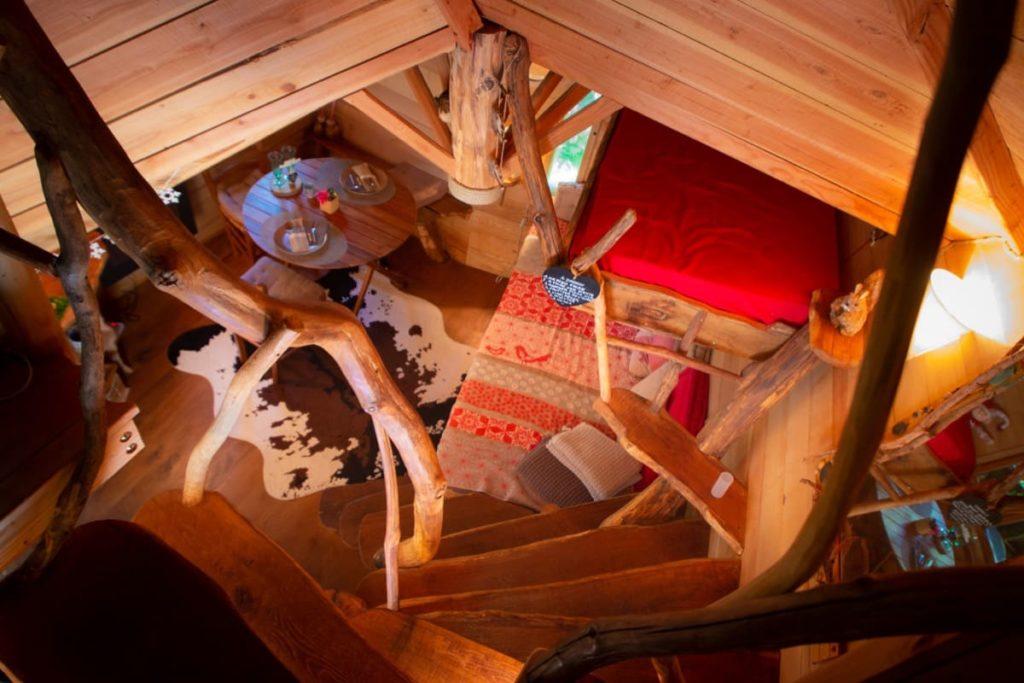 vue 1er étage cabane